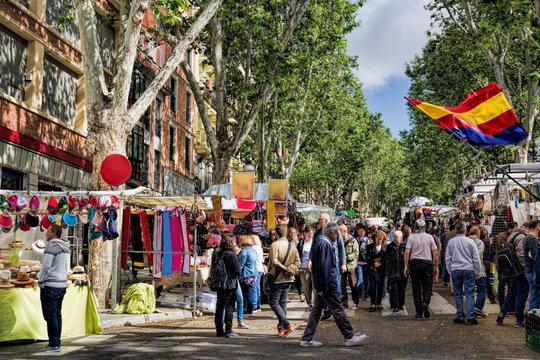 Madrid, El Rastro Market