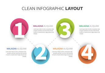 Infographic Layout With Multicolored Accents