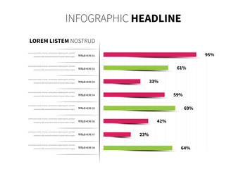 Green and Red Infographic Bar Graph Layout