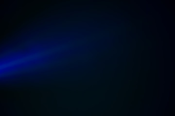 blue lights through the mist in the night