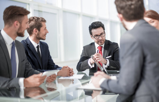 businessman and business team at a meeting in the office
