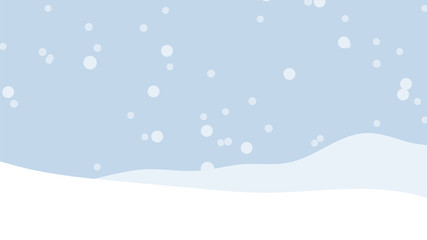 Snow winter sky background with snowfall. Vector illustration.