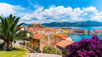 Wall Mural - Old town and harbor Portoferraio, Elba island, Italy