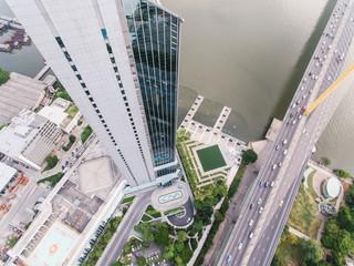 Amazing futuristic city exterior