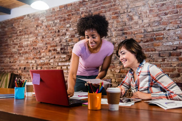 female business workers at coworking office