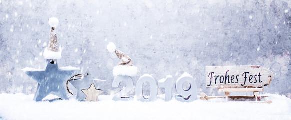Silvesterkarte Panorama Hintergrund Weihnachten 2019