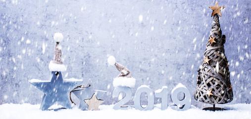 Silvesterkarte Hintergrund Weihnachtskarte 2019