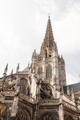 Rouen, France - August 15, 2018: Church of Saint-Maclou in Rouen. Normandy France