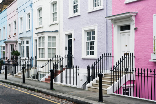 Colored houses in London
