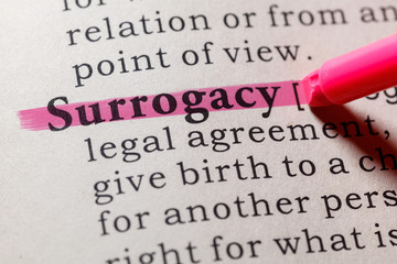 Wall Mural - definition of surrogacy