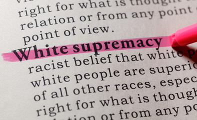 Wall Mural - definition of White supremacy