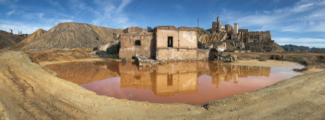 Beautiful photograph of the abandoned mines of Mazarrón in Murcia