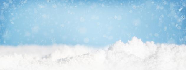Christmas Snow Falling Web Banner