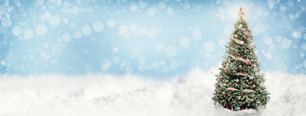 Christmas Snowy Scene Web Banner