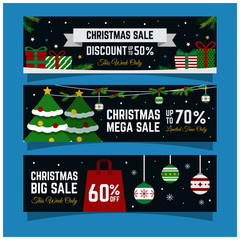 merry Christmas sale shopping banner