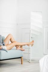 Woman Enjoying Morning at Home