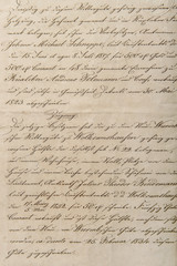 Antique unreadable calligraphic handwriting vintage paper background