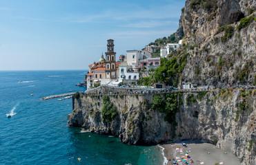 Positano Cliff Side on the Amalfi Coast Italy