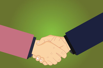 Design business concept Empty copy space modern abstract background. Hu analysis Shaking Hands on Agreement Greeting Gesture Sign of Respect Vector