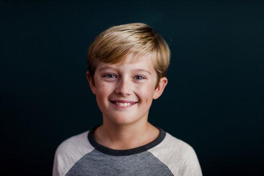 portrait of a happy, smiling boy