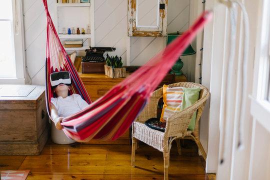 Child Enjoying Virtual Reality Experience