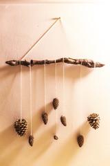 Decorative Pine Cone Wall Art
