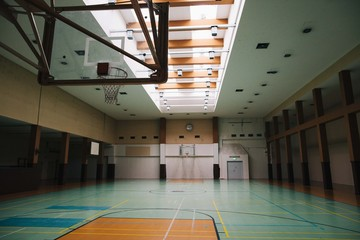Old school basketball court