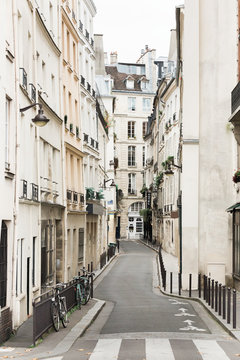 Empty street in the heart of Paris