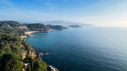 Beautiful coastline of Lloret de Mar.