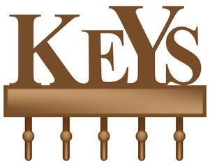Wall Mounted Key Hook