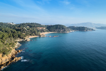 Picturesque seascape from drone.