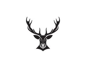 Deer head vector logo black