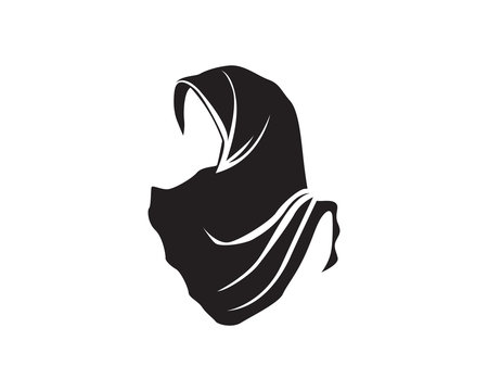 hijab vector black logo
