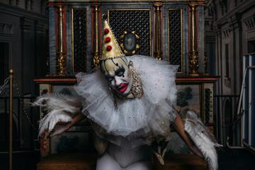 Grotesque clown