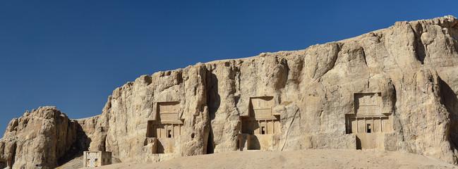 Ancient Naqsh-e Rustam necropolis in Pars, Iran
