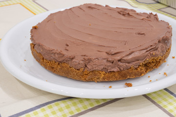 A nutella cheesecake