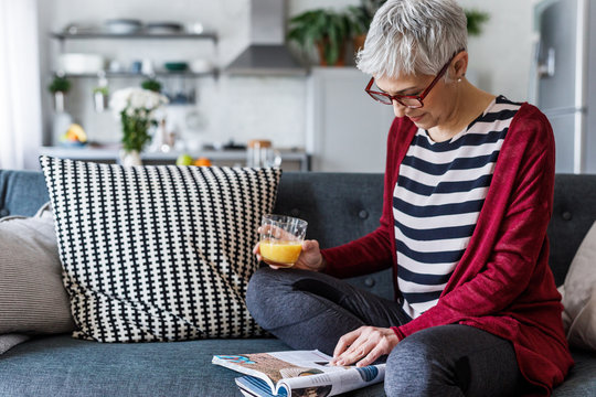 Woman Enjoying Time at Home