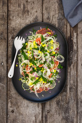 summer salad with blood oranges and strips of fennel