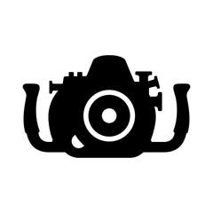 Underwater professional camera case, silhouette