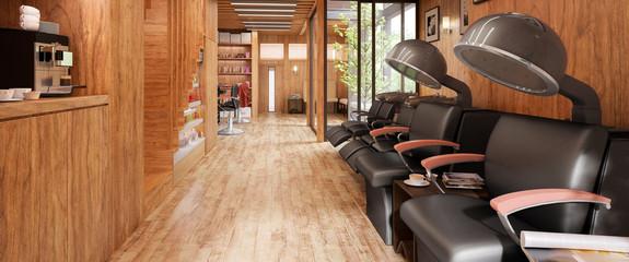 Modern Hair Salon (panoramic) - 3d visualization