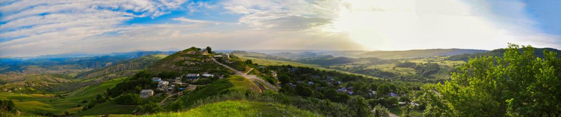 Mountain village panoramic view