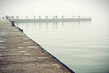 Artificial bay in Azov sea