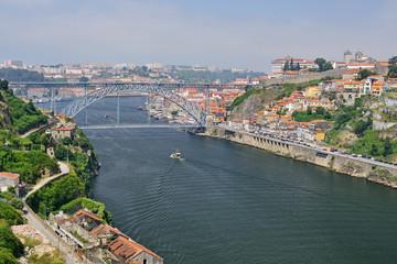 Porto with the Dom Luiz bridge, Portugal