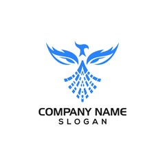 Modern Phoenix for Technology or corporate logo template with vector file.