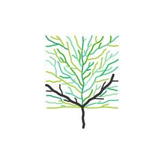 bald tree sign symbol