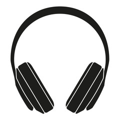 Black and white headphones silhouette