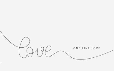Love letter one line drawing. Vector illustration.