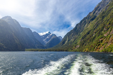 Milford sound amazing view from the cruise ferry