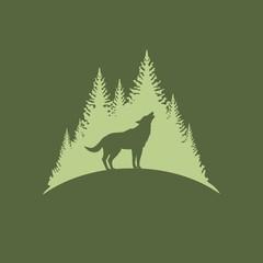 Волк ночью воет на луну