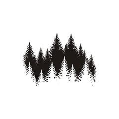 Силуэт леса